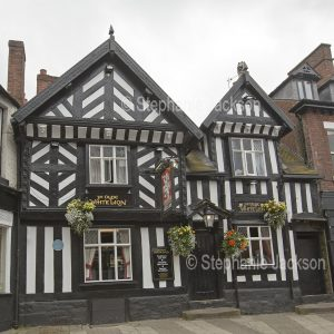 Ye Olde White Lion, an historic pub at Congleton in Cheshire, England.