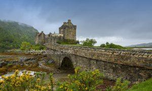 British castles - Eilean Donan castle,near the village of Dornie in Scotland.