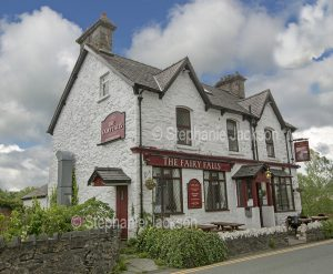 The Fairy Falls Hotel, a pub in the village of Trefriw in Conwy, Wales