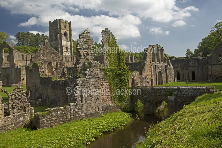 Ruins of Fountain's Abbey near Ripon in North Yorkshire, England.