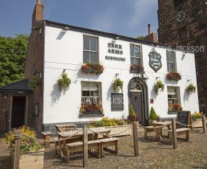 The Parr Arms pub in the village of Grappenhall in Cheshire, England