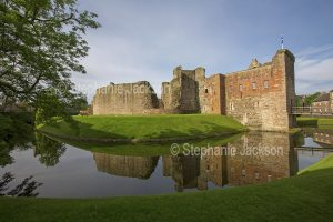 Scottish castles - Rothesay castle, on the Scottish island of Bute, is still surrounded by a moat.