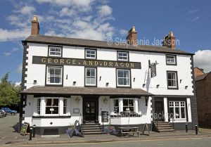 The George and Dragon pub at Tarvin in Cheshire, England.