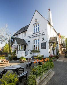The Laughing Fish pub in the village of Isfield in East Sussex, England