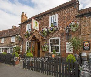 The Green Man pub in the village of Denham in Buckinghamshire England