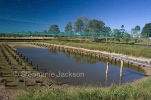 Aquaculture pond in Australia