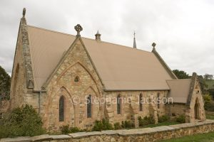 Old stone catholic church in historic village of Carcoar in NSW Australia