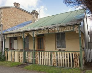 Old worker's cottage in city of Lithgow in NSW Australia