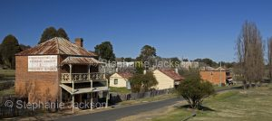 Main street and old general store at historic village of Hill End in NSW Australia
