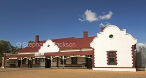 Historic building, railway station in outback town of Quorn in South Australia