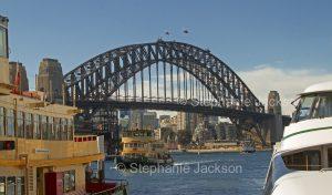 Sydney harbour bridge, iconic structure in NSW Australia
