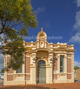 Historic building, 19th century town hall in outback town of Quorn in South Australia