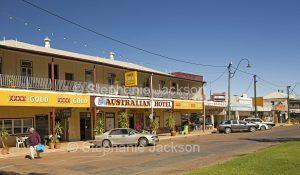 Australian Hotel in main street of outback town of Winton in Queensland Australia
