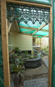 View from the entrance to the fernery.