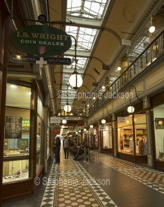 Interior of the historic Adelaide arcade in the city of Adelaide, South Australia.