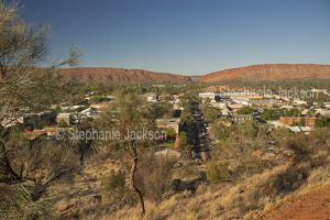 View of Alice Springs from Anzac Hill, in Central Australia, Northern Territory,
