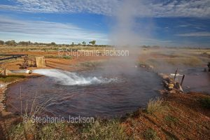 Hot artesian bore water at the outback town of Thargomindah in south-western Queensland Australia