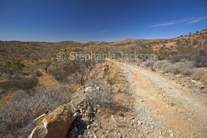 A stony track / road in the East MacDonnell Ranges, in the outback, Central Australia