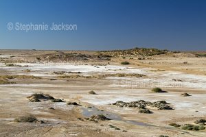 Vast salt flats in the outback, central Australia