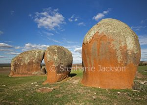 Unique geological / rock formations known as Murphy's haystacks are a popular tourist attraction near Streaky Bay, on the Eyre Peninsula in South Australia.