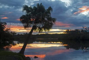 IMG 8593. Sunset over the Myall River near Tea Gardens in NSW Australia