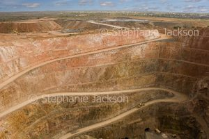 Peak Mine open cut gold mining pit near the NSW outback town of Cobar.