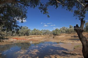 The Paroo River at Eulo in outback Queensland, Australia.