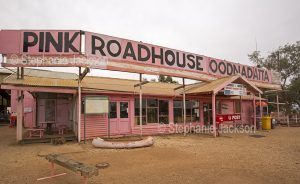 The pink roadhouse at the outback town of Oodnadatta in northern South Australia is an iconic destination for travellers using the Oodnadatta track.