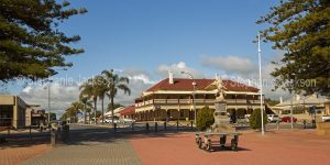 Main street and hotel at Pork Broughton on the Yorke Peninsula in South Australia.