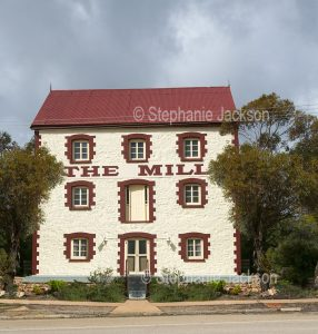 The historic old mill building in thetown of Quorn, in northern South Australia, now serves as a motel.