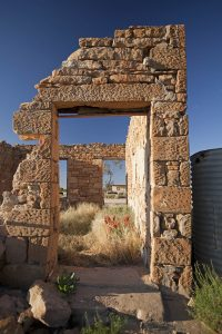 Ruins of old store at the historic town of Milparinka in outback NSW Australia.