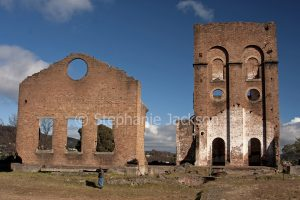 Historic ruins of old blast furnace in the city of Lithgow in NSW Australia.