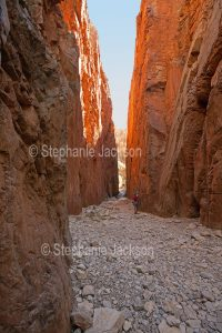 Standley Chasm, a popular tourist attraction in the West MacDonnell Ranges, in the outback, in the Northern Territory, Central Australia