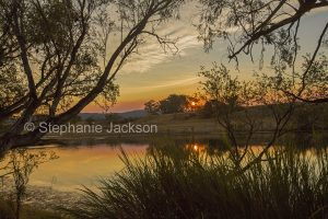 Sunrise at the Clarence River at Lilydale in northern NSW Australia