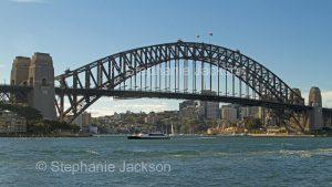 Iconic structure, Sydney harbour bridge in NSW Australia