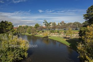 The Torrens River and the parklands on its banks are in the heart of the city of Adelaide, which is the capital of South Australia.