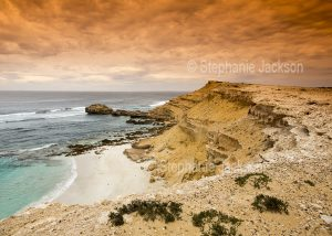 Coastal cliffs at Coffin Bay National Park on the Eyre Peninsula in South Australia.