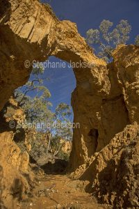 Natural arch at Golden Gully, near the historic gold mining village of Hill End in NSW Australia.