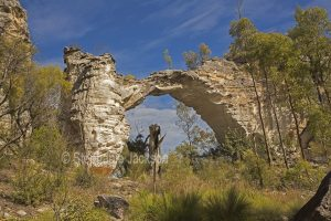 Marlong arch, natural stone geological feature in Mount Moffatt section of Carnarvon National Park in Queensland Australia