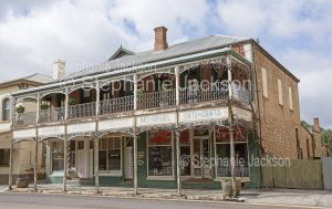 Old building, shops, in the town of Quorn, in northern South Australia.