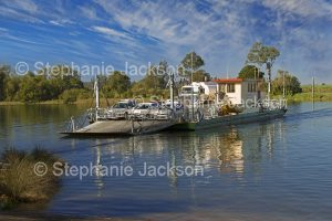 Vehicular ferry crossing the Clarence River in northern NSW Australia.