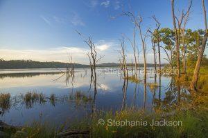 Lake at Paradise dam near Biggenden in Queensland Australia.