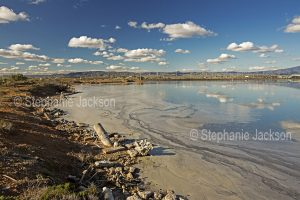 Pollution in the water of Spencer Gulf at Port Lincoln, South Australia.
