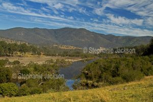 The Mann River in a valley in the Great Dividing Range in northern NSW Australia.
