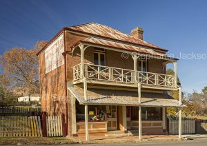 Old general store in the historic gold mining village of Hill End, a popular tourist destination in NSW Australia.