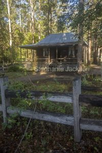 Settler's cottage at Timbertown, a tourist attraction in Wauchope, NSW Australia.