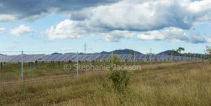 Solar panel array on a farm in central Queensland Australia.