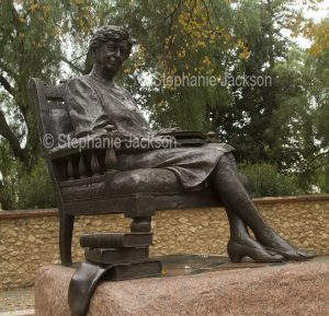 Public / street art, sculpture, of Dame Rona Mitchell, Governor of South Australia 1991-1996 - in Adelaide SA