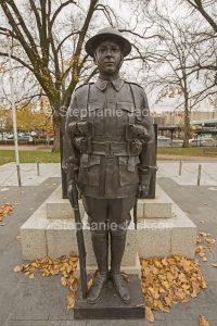 War memorial statue in the city of Orange in NSW Australia