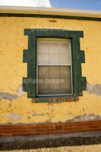Window in old building at Port Wakefield in South Australia.